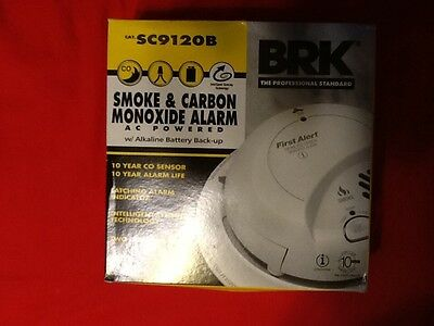 First Alert Sc9120B Smoke & Carbon Monoxide Alarm Ac Powered Batterybackup