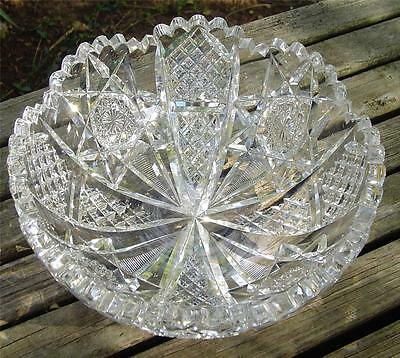 Gorgeous Antique Abp Signed Hawkes 8In Cut Glass Bowl!!