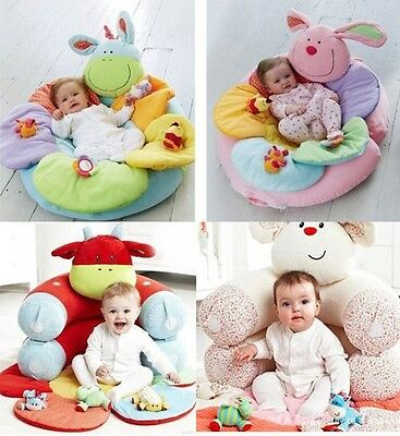 NEW Baby Inflatable Seat Baby Play Mat Game Pad Blossom Farm Sit Me Up Cosy  V15