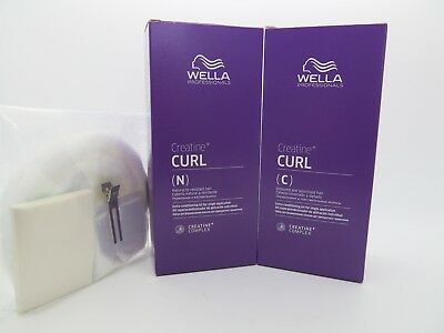 WELLA CURL IT PERMS 2 Hair Types FREE PERM KIT Papers Cap Clip Neck Wool+