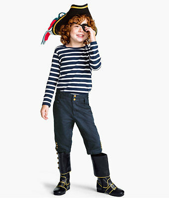 H&M Kids Unicef Dark Blue/Gold Sea Captain's Pirate Trousers Ages 1-10 years