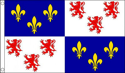 PICARDY FLAG 5' x 3'  Picardie French France Region Regional Province Flags