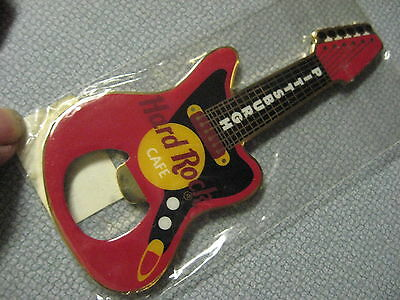 Hard Rock Cafe HRC Original Red Edition Pittsburgh Guitar Bottle Opener Magnet