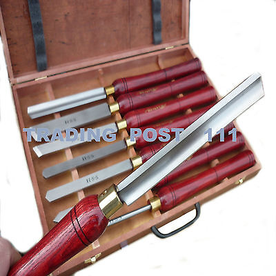 Neilsen Wood Turning Chisels 8 Piece Long Handles Lathe HSS Steel Blade   15C