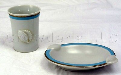 Ben Rickert Porcelain Seashell Soap Dish and Tumbler Set - Made in Japan