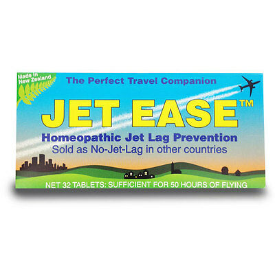 JET EASE homeopathic jet lag prevention (aka No-Jet-Lag) 32 tablets FREEPOST