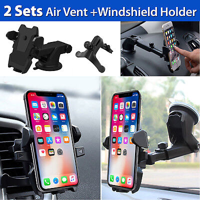 Universal Car Mount Cradle Holder for iPhone 6S 6 7 Plus 5S Samsung Windshield
