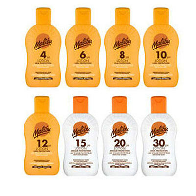 Malibu Sun Tan Lotion Cream - 200Ml - Choose Your  Spf Factor