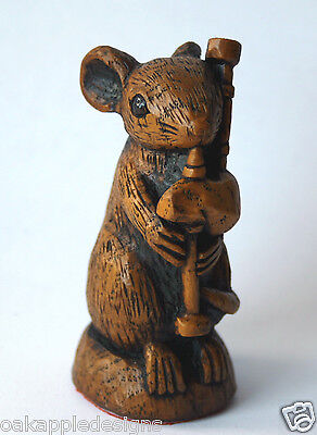 Church Mouse Musician Bagpipes Unique Scottish ornament gift Hand Made Scotland