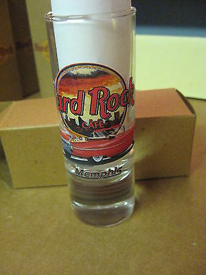"Hard Rock Cafe 4"" Tall Double Shot Glass & Box Memphis Special # 40"