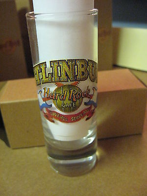 "Hard Rock Cafe 4"" Tall Double Shot Glass & Box Specialty Gatlinburg # 42"