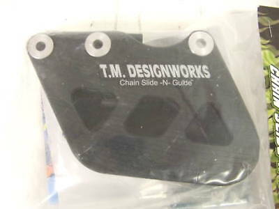TM Designworks Factory Edition 1 Solid Body Rear Chain Guide Black RCG-KX2-BK
