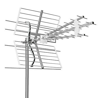 Antenna per decoder digitale terrestre multibanda UHF VHF Full HD LTE free