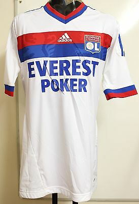 Olympic Lyon 2011/12 S/s Player Issue Techfit Shirt/carrier By Adidas Size Xxl
