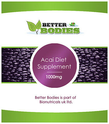 Acai Berry Diet Extreme Weight Loss 1000mg 120 Capsules Better Bodies Slimming
