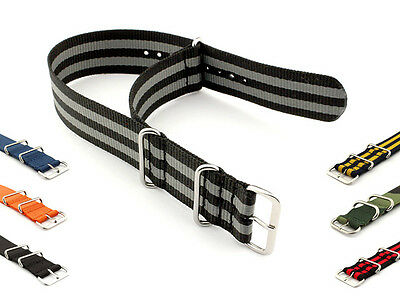 22mm Nylon Watch Strap Band Military Army Diver SS Buckle