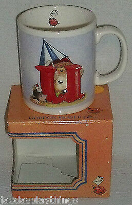"Gordon Fraser Mug Cup Country Companions Hedgehog Ladybug ""U"" + Box FREE US Ship"