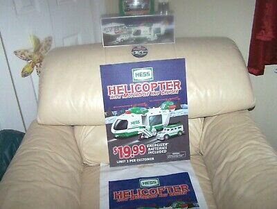 2001 Hess &  2011 Mini  Hess Combo - Bag, Button, Case Fresh-  Mib