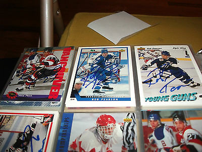 Rob Pearson Autographed 1993-94 Upper Deck # 48 Toronto Maple Leafs