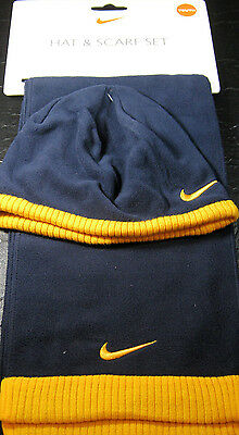 Nike 2 Pc. Youth Hat & Scarf Set Navy Blue 100% Polyester MSRP $25