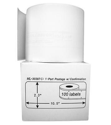 2 Rolls of 100 One-Part Internet Postage Labels for DYMO® LabelWriter® 30387-C