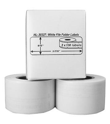 2 Rolls of 130 File Folder Labels for DYMO® LabelWriter® 30327, 30576