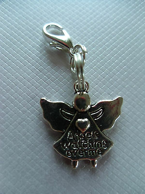 Cat collar charm, collar tag, angels watching over me, Cat Bling