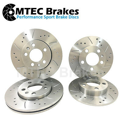 Alfa 159 1.9 JTDM 305mm Front Rear Drilled Grooved MTEC Brake Discs