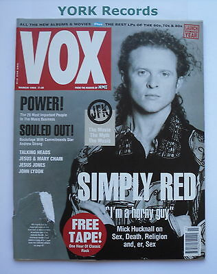 VOX MAGAZINE - Issue 18 March 1992 - Simply Red / Power / Soul / Talking Heads