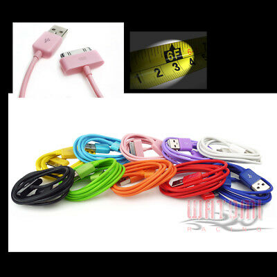 6Ft 30Pin Usb Sync Data Power Charger Cable Iphone 4S 4 3Gs Ipod Touch Nano Ipad