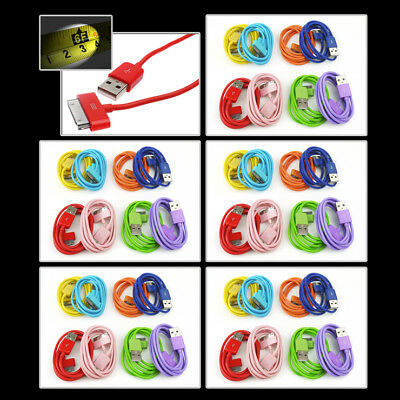 5X 8-Color 6Ft Usb 30Pin Cables Data Sync Charger For Galaxy Tab 7 8.9 10.1