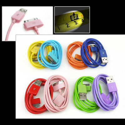 """8-Color 6Ft Usb 30Pin Cables Data Sync Charger For Galaxy Tab 7"""" 8.9"""" 10.1"""""""