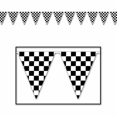 Racing Checkered Banner 100ft Nascar Birthday Party Decorations Car