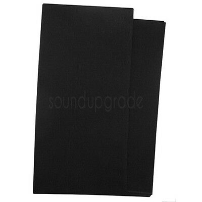 Black Loudspeaker Fabric/Cloth/Material 850mm x 1000mm. Cover Grills/Cabinets.