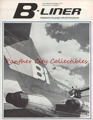 Oct/Nov 1975 B-Liner Braniff International Airlines Employee Magazine 727 Cover