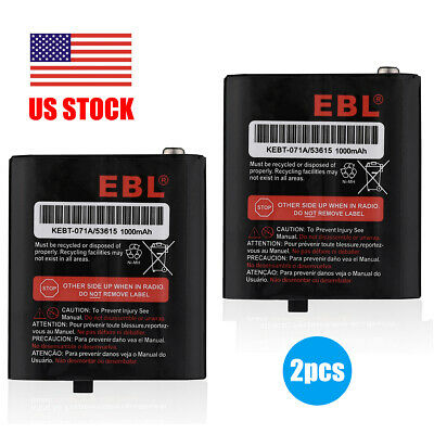 2x 1000mAh NIMH Battery For Motorola HKNN4002 53615 KEBT-071-A KEBT-071-B T5920