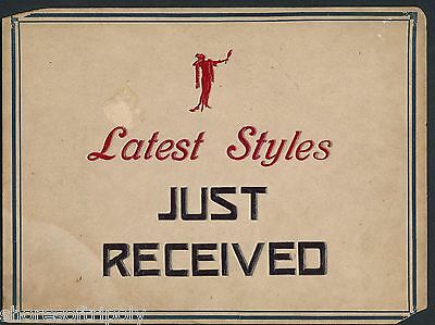 "1920's ART DECO ""LATEST STYLES"" STORE WINDOW SIGN ~ EMBOSSED ~ ORIGINAL ~ dress"