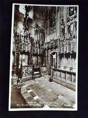 Old Postcard Of Thistle Chapel Edinburgh- Used 1963