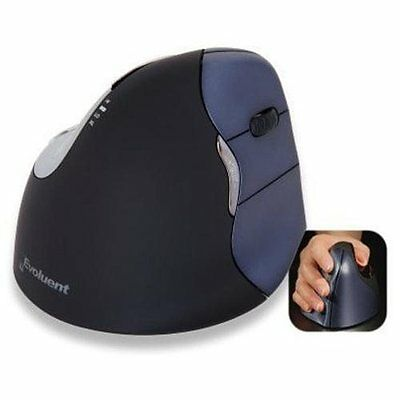 EVOLUENT VERTICAL MOUSE 4 WIRELESS RIGHT HANDED-THE ERGONOMIC PATENTED SHAPE SUP