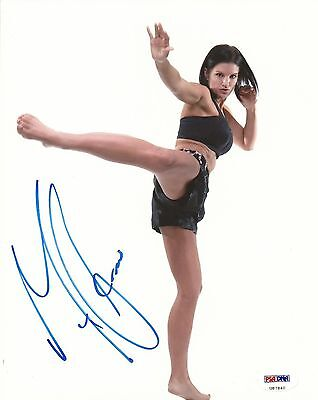 Gina Carano Signed UFC 8x10 Photo PSA/DNA COA Autograph Picture Strikeforce MMA