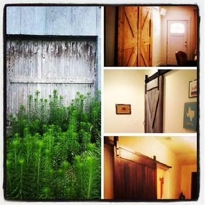 RECLAIMED VINTAGE CENTURY OLD SLIDING BARN WOOD DOORS w/ TRACK