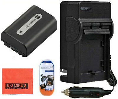 NP-FH50 NPFH50 Battery & Charger for Sony Alpha DSLR-A230 A290 A330 A380 A390