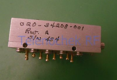 RF IF microwave bandpass filter 6.620 GHz 400 MHz BW data