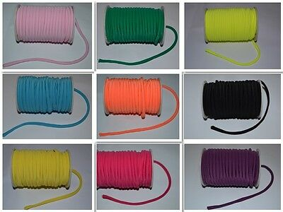 4mm Elastic Nylon Cord Rope 2M 5M 10M COLOURS