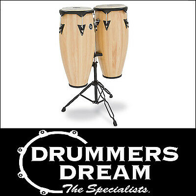 """Lp City Wood Congas 10""""/11"""" Natural Finish W/stand On Sale! Rrp $949"""