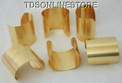 "Brass Bracelet Cuff Blanks Extra Wide 2.5"" Pkg Of 12"