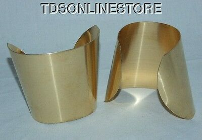 "Brass Bracelet Cuff Blanks Extra Wide Tapered 2.5"" Pkg Of 2"