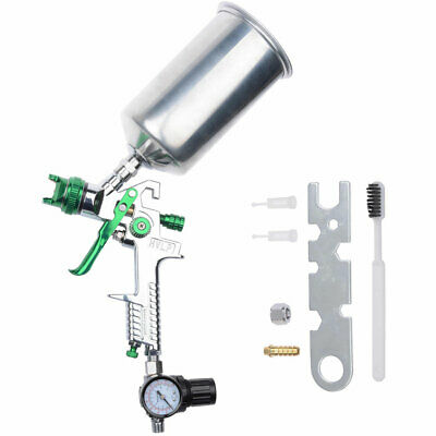 2.5 mm HVLP Spray Gun Auto Paint Gravity Feed w/ Gauge Metal Flake Primer Nozzle