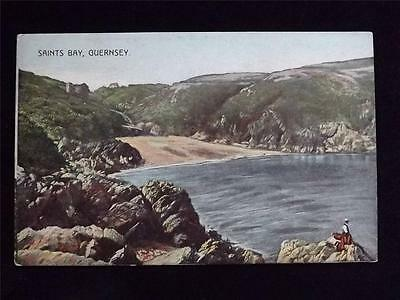 Old Postcard Of Saints Bay , Guernsey - Unused