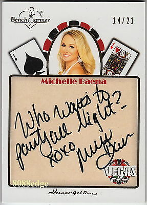 2013 Benchwarmer Vegas Inscription Auto: Michelle Baena #14/21 Autograph 1/1